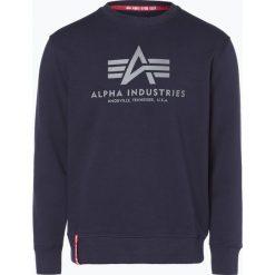 Bejsbolówki męskie: Alpha Industries - Męska bluza nierozpinana, niebieski
