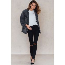 Boyfriendy damskie: Sally & Circle Czarne jeansy Olivia - Black