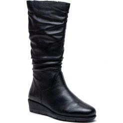 Kozaki CAPRICE - 9-25545-31 Black Nappa 022. Czarne buty zimowe damskie Caprice, ze skóry ekologicznej, na obcasie. W wyprzedaży za 259,00 zł.