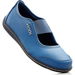 Baleriny bonprix niebieski dżins. Niebieskie baleriny damskie lakierowane bonprix. Za 37,99 zł.