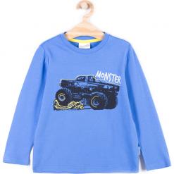Koszulka. Niebieskie t-shirty chłopięce z długim rękawem TRUCK, z bawełny. Za 29,90 zł.