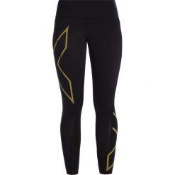 2XU Legginsy black/gold. Czarne legginsy 2XU, xs, z elastanu. W wyprzedaży za 471,20 zł.