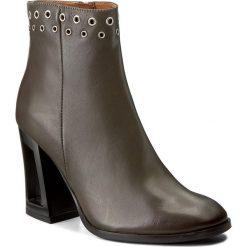Botki EVA MINGE - Graciela 2O 17SF1372247EF 115. Szare buty zimowe damskie marki Eva Minge, ze skóry, na obcasie. W wyprzedaży za 269,00 zł.