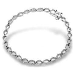 Piękna Białe Złoto Bransoletka - złoto białe 333, Diament 0,97ct. Białe bransoletki damskie na nogę marki W.KRUK, złote. Za 4190,00 zł.