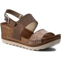 Rzymianki damskie: Sandały INBLU – NT026707 Brązowy