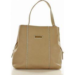 Casualowa torebka z regulacją rączki beżowa CLARA. Szare torebki klasyczne damskie marki Monnari, z materiału, średnie. Za 159,00 zł.
