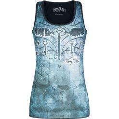 Harry Potter Winged Key Top damski niebieski. Niebieskie topy damskie Harry Potter, xl, z nadrukiem, z okrągłym kołnierzem. Za 42,90 zł.