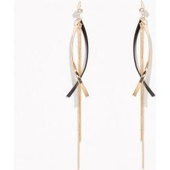 Długie kolczyki z łańcuszkami - Beżowy. Brązowe kolczyki damskie Sinsay. Za 12,99 zł.