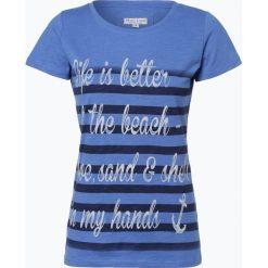 Marie Lund - T-shirt damski, niebieski. Niebieskie t-shirty damskie Marie Lund, m, z napisami, z bawełny. Za 59,95 zł.