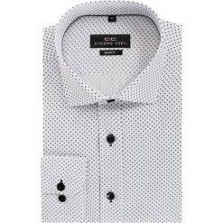 Koszula SIMONE KDBS000128. Czarne koszule męskie na spinki Giacomo Conti, m, w kropki, z bawełny, z włoskim kołnierzykiem, z długim rękawem. Za 169,00 zł.