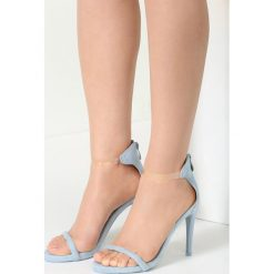 Sandały damskie: Niebieskie Sandały Ad Hoc