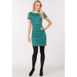 14d7335965 Kobieca sukienka z koronki. Szare sukienki damskie Monnari