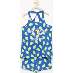 Piżamy męskie: Piżama z szortami - Niebieski