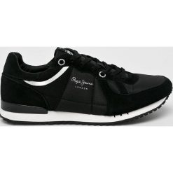 Pepe Jeans - Buty. Czarne buty sportowe męskie Pepe Jeans, z jeansu, na sznurówki. Za 319,90 zł.