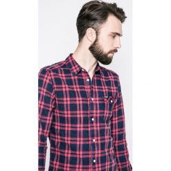 Wrangler - Koszula. Szare koszule męskie na spinki marki S.Oliver, l, z bawełny, z włoskim kołnierzykiem, z długim rękawem. W wyprzedaży za 149,90 zł.