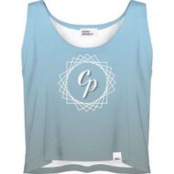 Colour Pleasure Koszulka damska CP-035 292 niebieska r. XS-S. Niebieskie bluzki damskie Colour pleasure, s. Za 64,14 zł.