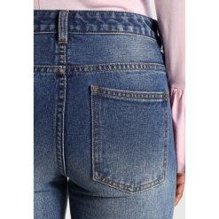 Vila VIGLARA Jeansy Slim Fit medium blue denim. Niebieskie jeansy damskie marki Vila, z bawełny. W wyprzedaży za 146,30 zł.