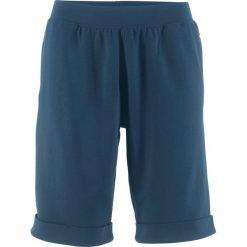 Spodnie dresowe damskie: Bermudy dresowe bonprix ciemnoniebieski