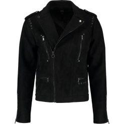 Black Kaviar RANDY Kurtka ze skóry ekologicznej black. Czarne kurtki męskie bomber Black Kaviar, m, z elastanu. W wyprzedaży za 474,50 zł.
