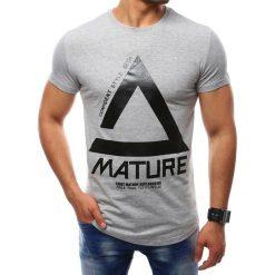 T-shirty męskie z nadrukiem: T-shirt męski z nadrukiem szary (rx2400)