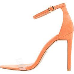 Rzymianki damskie: BEBO Sandały na obcasie clear/orange