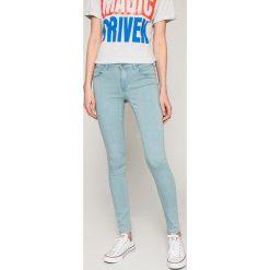 Only - Jeansy Rain. Szare jeansy damskie marki ONLY, s, z bawełny, casualowe, z okrągłym kołnierzem. W wyprzedaży za 99,90 zł.