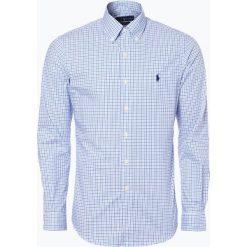Polo Ralph Lauren - Koszula męska, niebieski. Szare koszule męskie w kratę marki Polo Ralph Lauren, l, z bawełny, button down, z długim rękawem. Za 349,95 zł.
