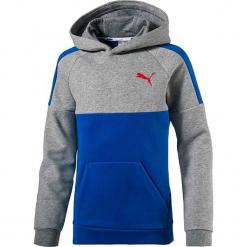 Bluza w kolorze szaro-niebieskim. Niebieskie bluzy chłopięce z nadrukiem Puma. W wyprzedaży za 113,95 zł.