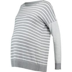 Swetry klasyczne damskie: JoJo Maman Bébé DOUBLE STRIPE JUMPER Sweter silver/ecru