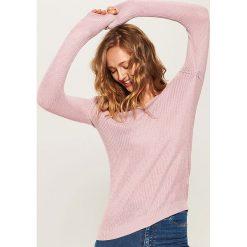 Sweter z dekoltem na plecach - Różowy. Czerwone swetry klasyczne damskie marki House, l, z dekoltem na plecach. Za 79,99 zł.