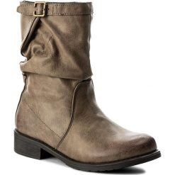 Botki JENNY FAIRY - WYL1066A-1 Beżowy Ciemny. Brązowe buty zimowe damskie Jenny Fairy, z materiału, na obcasie. W wyprzedaży za 90,99 zł.