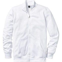 Bluza rozpinana bonprix biały. Białe bejsbolówki męskie bonprix, m, z dresówki. Za 44,99 zł.