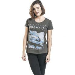Harry Potter Hogwarts Express Koszulka damska odcienie szarego. Szare bluzki asymetryczne Harry Potter, m, z nadrukiem, z okrągłym kołnierzem. Za 79,90 zł.