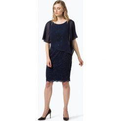 Swing - Damska sukienka wieczorowa, niebieski. Niebieskie sukienki balowe Swing, w koronkowe wzory, z koronki. Za 649,95 zł.