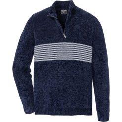 Swetry męskie: Sweter z szenili Regular Fit bonprix ciemnoniebieski