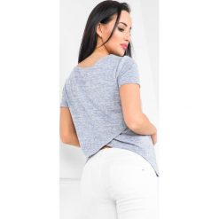 Bluzki, topy, tuniki: Bluzka z krótkim rękawem i zakładką z tyłu