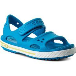 Sandały CROCS - Crocband II Sandal Ps 14854  Ocean/Tennis Ball Green. Niebieskie sandały chłopięce marki Crocs, z tworzywa sztucznego. Za 129,00 zł.
