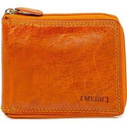 Skórzany portfel w kolorze jasnobrązowym - 9 x 11 x 1,5 cm. Brązowe portfele damskie I MEDICI FIRENZE, ze skóry. W wyprzedaży za 105,95 zł.