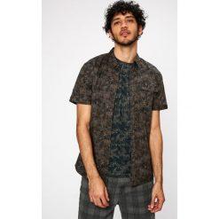 Medicine - Koszula Traveller. Szare koszule męskie na spinki marki MEDICINE, m, z bawełny, z klasycznym kołnierzykiem, z krótkim rękawem. W wyprzedaży za 39,90 zł.