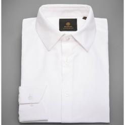 Koszula z żakardowej tkaniny - Biały. Białe koszule męskie marki INESIS, m, z bawełny, z długim rękawem. Za 139,99 zł.