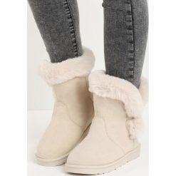 Beżowe Śniegowce Nit-Pick. Czarne buty zimowe damskie marki Cropp. Za 69,99 zł.