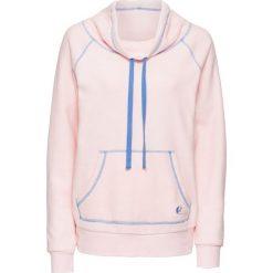Bluza z polaru bonprix pastelowy jasnoróżowy - niebieski. Czerwone bluzy polarowe marki bonprix. Za 59,99 zł.