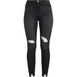 Miss Selfridge RAW HEM LIZZI Jeans Skinny Fit washed black. Czarne rurki damskie Miss Selfridge. W wyprzedaży za 188,10 zł.