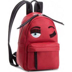 Plecak CHIARA FERRAGNI - 18AI-CFZ000 Rosso. Czerwone plecaki damskie Chiara Ferragni, ze skóry ekologicznej, klasyczne. W wyprzedaży za 1459,00 zł.