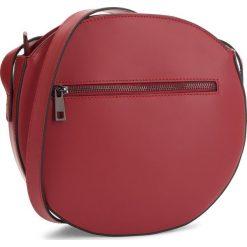 Torebka CREOLE - K10571  Bordowy. Czerwone listonoszki damskie Creole, ze skóry. W wyprzedaży za 179,00 zł.