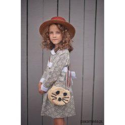 Sukienka GREY. Szare sukienki dziewczęce Pakamera, w paski, z bawełny. Za 149,00 zł.