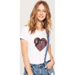 T-shirty damskie: T-shirt love/hate – Biały