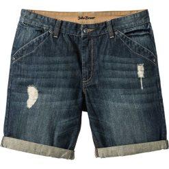 Bermudy dżinsowe Regular Fit bonprix dirty denim. Niebieskie bermudy męskie marki bonprix, z denimu. Za 89,99 zł.