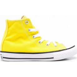 Converse - Trampki dziecięce. Żółte buty sportowe dziewczęce marki Converse, z materiału. W wyprzedaży za 119,90 zł.
