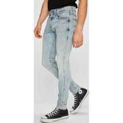 G-Star Raw - Jeansy 3301. Niebieskie jeansy męskie regular G-Star RAW, z bawełny. W wyprzedaży za 479,90 zł.